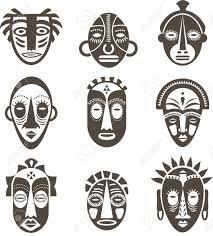 Resultado de imagem para mascaras africanas coloridas