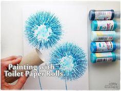 Toilet Paper Rolls Dandelion Painting Technique for Beginners ♡ Maremi's...