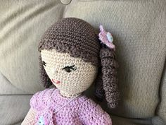 Christels handarbete: Virkad docka Hello Kitty, Barbie, Crochet, Hats, Crocheting, Hat, Chrochet, Knits, Hipster Hat