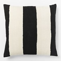 Mistari Pillow Cover - Black/Natural | West Elm