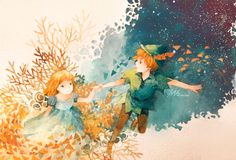 The Art Of Animation, Gift Lee...this looks like a Miyazaki version of Peter Pan. Wouldn't that be awesome?!