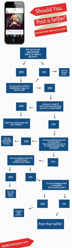 Should You Post a Selfie? (Infographic) - such a needed infographic... ;)