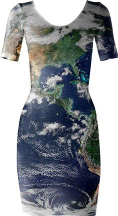 Earth Short Sleeved Bodycon Dress - Available Here: http://printallover.me/collections/sondersky/products/0000000p-earth-15
