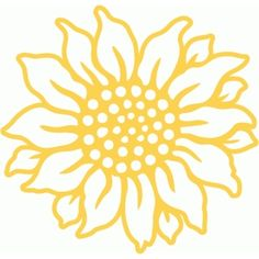 Silhouette Design Store - View Design #85690: sunflower filigree