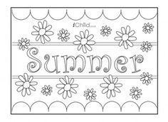 print this summer poster for your child to colour in and decorate find lots more