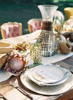 Safari Wedding Inspiration from Utterly Engaged + Propel gorgeous table by SoHappiTogetherBl. Tiffany Blue, Safari Wedding, Leopard Wedding, Forest Wedding, Protea Wedding, African Theme, African Safari, African Style, Exotic Wedding