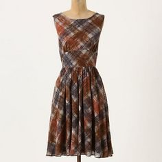 Contemporarian dress anthropologie plaid maple 8 Beautiful retro inspired dress by Maple for anthropologie Anthropologie Dresses