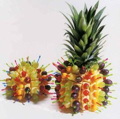 Excellent display idea for fruit & cheese. I will  use this at my next casual catering event.