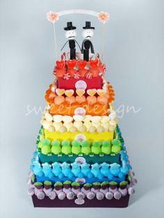 Tarta de chuches - Candy cake - Gâteau de bonbons - Snoeptaart Gomi Gomi, Candy Pop, Candy Cakes, Ideas Para Fiestas, Candy Buffet, Marshmallow, Cake Decorating, High Tea, Wedding Cakes