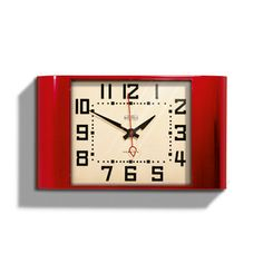 Wake up in style with this vintage-inspired alarm clock made from durable acrylic. Its glossy finish adds a modern touch, while its design lets it blend seamlessly with any bedroom décor.  Find the Vintage-Inspired Wide Awake Clock in Red, as seen in the The Ivies Collection at http://dotandbo.com/collections/the-ivies?utm_source=pinterest&utm_medium=organic&db_sku=NWG0013-red