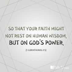 Image result for 1 corinthians 2:5
