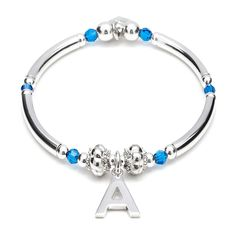 These are designed using genuine Swarovski crystals, eye catching sterling silver memento spacers and a combination of sterling silver rounded beads.