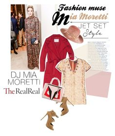 """Jet Set Style With DJ Mia Moretti & The RealReal: Contest Entry"" by sofia10-1 ❤ liked on Polyvore featuring Giuseppe Zanotti, MaxMara, Rochas, Eugenia Kim, Fendi and DANNIJO"