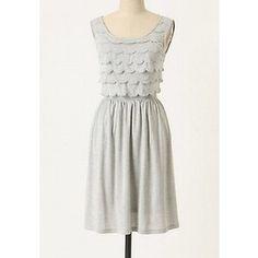 silvery petal dress