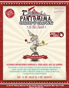No faltes a la séptima edición del Festival de Pantomima, Circo y Clown organizado por la Secretaría de Cultura CDMX a través del +FARO Milpa Alta