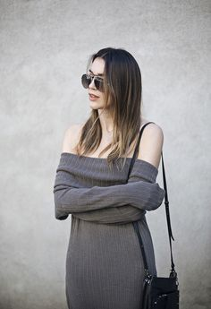 Off The Shoulder Style Dress | Thrifts and Threads