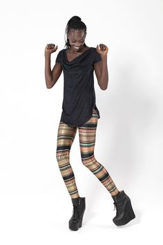 A living, breathing piece of Black Milk history. These leggings were one of the very first pieces every created by Black Milk Clothing. Approximately 1 was sold and it was a huge success. Patterned Leggings, Printed Leggings, Your Style, Style Me, Alphabet Style, Black Milk Clothing, How To Pose, Cowgirl Style, Looks Style