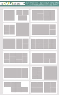 10x10 Collage Style,12 DOUBLE page spreads, Collage Style with white border…