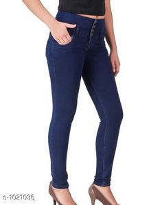 Jeans Trendy Stylish Women's Jean  *Fabric* Denim  *Waist Size* S- 28 in, M- 30 in, L- 32 in, XL- 34 in , XXL - 36 in  *Length* Up To 40 in  *Type* Stitched  *Description* It Has 1 Piece Of Women's Denim Jean  *Work* Solid  *Sizes Available* 28, 30, 32, 34, 36 *    Catalog Name: Alyssa Trendy Stylish Women's Jeans Vol 2 CatalogID_123176 C79-SC1032 Code: 504-1021036-