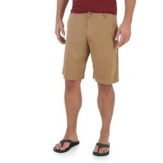 Wrangler Big Men's Advanced Comfort Flat Front Short, Size: 44, Brown