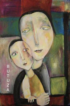 Swiss Artist Painter | Painter by Cathy Butuza #outsiderart #artbrut #art #artist #artistic #facesart #painting #acrylic