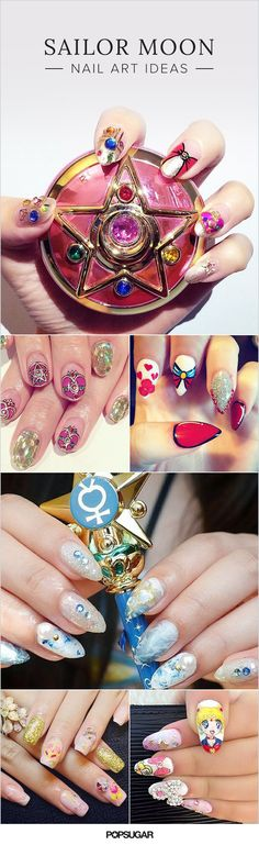 No Millennial's childhood was complete without Sailor Moon. Sailor Moon is all about female superheroes who fight evil powers instead of using their talents for personal gain. It's no wonder that it's one of the most popular anime of all time. That makes Sailor Moon and her friends a common Halloween costume choice, but an even more exciting nail art option. Read on for glittery, cartoonish claw creations that will inspire you to break out your old VHS tapes.