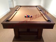 The Industrial Pottery Barn style Pool Table is now proudly made in the USA.  This design comes in a reclaimed pine wood finish, but other hardwoods are available upon request.  Email us for a quote today:  nygameroom@gmail.com