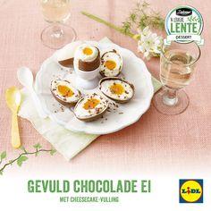 Recept voor gevuld chocolade ei met cheesecake-vulling #Lente bij #Lidl #dessert