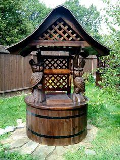 Woodworking Joints, Woodworking Furniture, Wood Furniture, Meadow Garden, Garden In The Woods, Diy Garden Fence, Garden Landscaping, Man Cave Diy, Wine Table