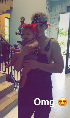 Jake Paul with an adorable little baby