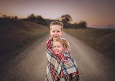 Photography siblings. Snug as two bugs in a plaid rug. Melbourne Family Photography