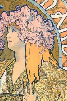 Alphonse Mucha- Art Nouveau was known for its free flowing lines. Artist Alphonse Mucha depicted women as flowers and was a great exhibitor of the ideals of art during the era.