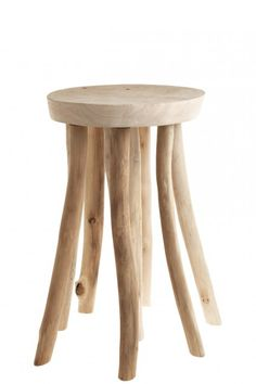 By POTCHELLI-SEMPRE BVBA IND -   versatile hand carved driftwood side table or stool. #decor