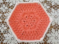 African Flower Dishcloth pattern. Would also be a great pattern to use for a blanket.