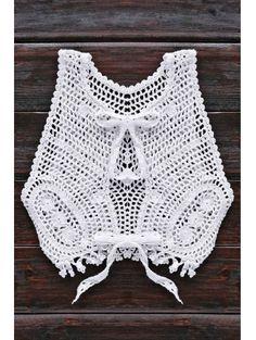 V Neck Hollow Out Cropped Smocked Top #womensfashion #pinterestfashion #buy #fun#fashion