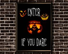 Halloween Decor Printable Enter If You Dare Halloween Halloween Front Doors, Halloween Door Decorations, Halloween Printable, Etsy Handmade, Printable Wall Art, Art Boards, Canvas Wall Art, Framed Prints, Paintings