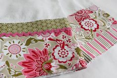 Possibly too pretty to use! Floral Kitchen Towel from CozyByChristine.com