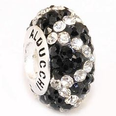 Alducchi Clear/ White - Black wave Swarovski Crystal 925 Sterling Silver Charm Bead Fit Pandora Bracelet Alducchi. $28.95. Ships in jewelry pouch.. ALDUCCHI CRYSTAL Charm bead .925 Sterling Silver core. RETAIL PRICE : $45.95. Dimensions : 14 x 8 mm Hole size: 4 mm with screw thread. Fit PANDORA - Chamilia - Troll bracelet and any other bracelet up to 3.8 mm diameter. Save 37% Off!