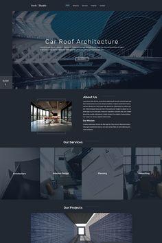 Architecture Portfolio Discover Arch Studio One Page Architecture PSD Template Arch Studio One Page Architecture PSD Template Site Web Design, Design Ios, Website Design Layout, Web Layout, Layout Design, Homepage Design, Luxury Website, Modern Website, Website Design Inspiration