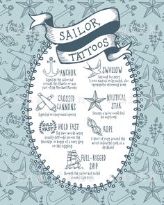 Sailor tattoo 8x10 print, sailor gift, navy gift, naval art, sailing art, navy wall decor, tattoo art