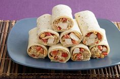 Asian Chicken Wraps recipe. For low glycemic index, use iceberg lettuce instead of tortilla.