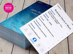 iPhone iOS 5 Flat Style Business Card Template