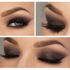 Gorgeous smokey eye make-up