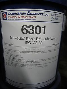 LUBRICATION ENGINEERS 6301 MONOLEC ROCK DRILL LUBRICANT - PAIL