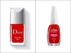 Esmalte vermelho clássico!   40 versões mais baratas de produtos de beleza que viraram hit