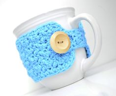 """I LOVE making and using coffee mug cozies, they actually do keep your coffee warmer for longer, and they just seem to make the cup so much more comfortable and """"cozy"""" to hold. I have apatternfor ..."""