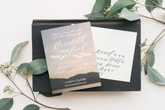Glacier Montana Calligraphy Wedding Invitations by Cast Calligraphy / Oh So Beautiful Paper