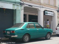 Toyota Corolla (3. generation), produced 1974 to 1979, photographed in Phuket Town, Thailand