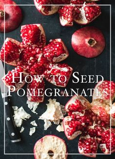 How to remove seeds from pomegranates without making it look like a murder scene | @whiteonrice