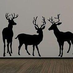 3 Deer Wall Decal